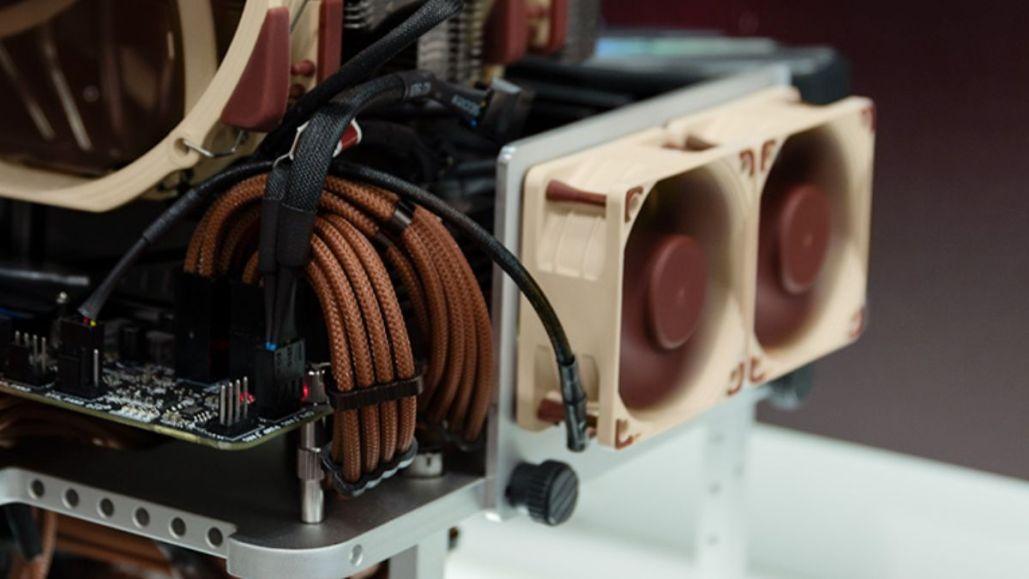 2x NOCTUA NF-A6x25 PWM mounted on the custom VRM fan bracket