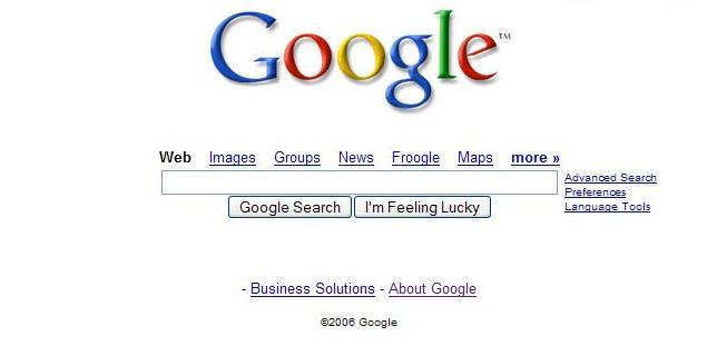 blank Google search bar