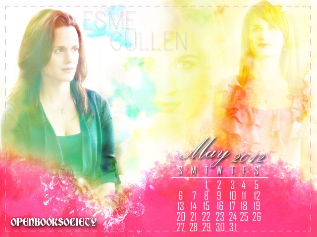ESME CULLEN MAY CALENDAR WALLPAPER