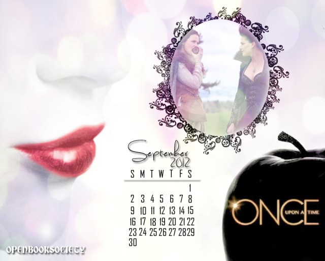 ONCE UPON A TIME SEPTEMBER CALENDAR WALLPAPER