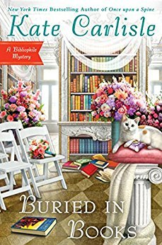 BURIED IN BOOKS (BIBLIOPHILE MYSTERY, BOOK #12) BY KATE CARLISLE: BOOK REVIEW