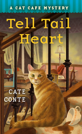 TELL TAIL HEART (CAT CAFE MYSTERY #3) BY CATE CONTE: BOOK REVIEW