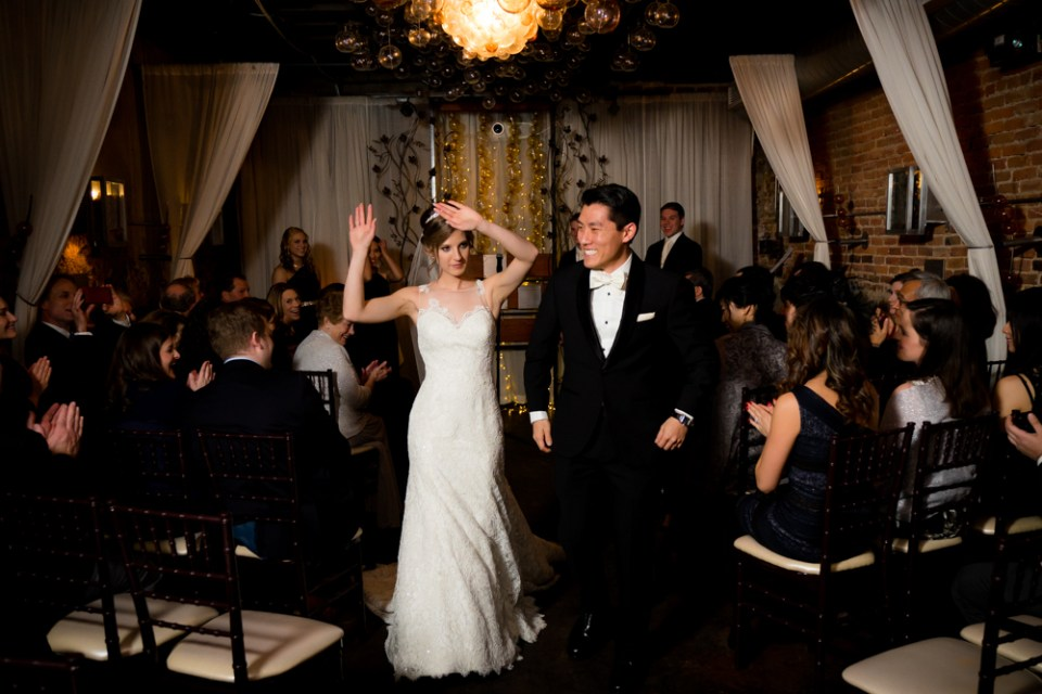 Dancing down the aisle as husband and wife