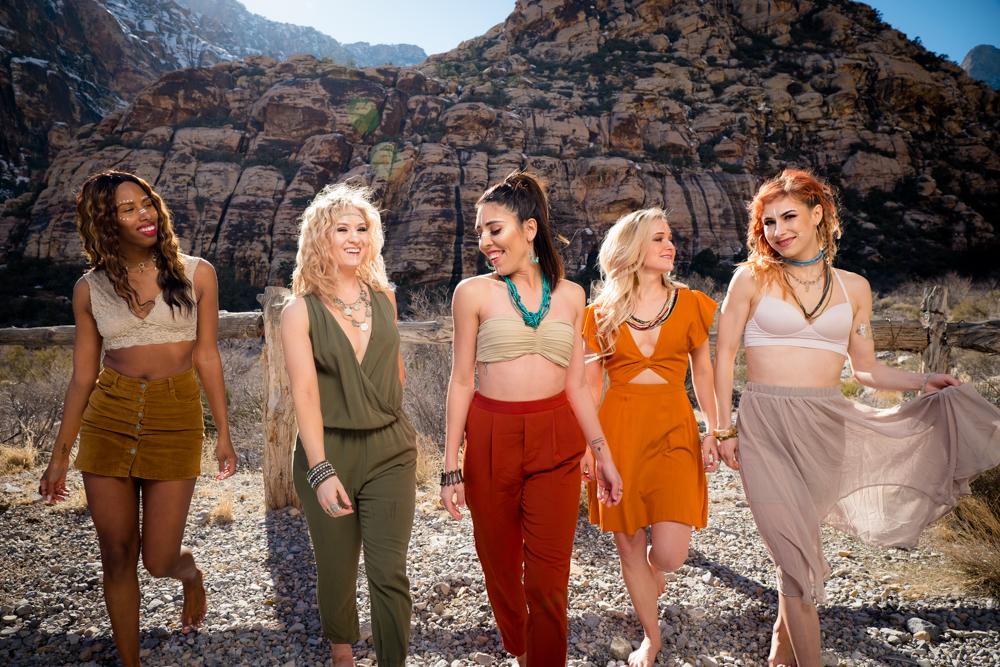 Beautiful ladies walking
