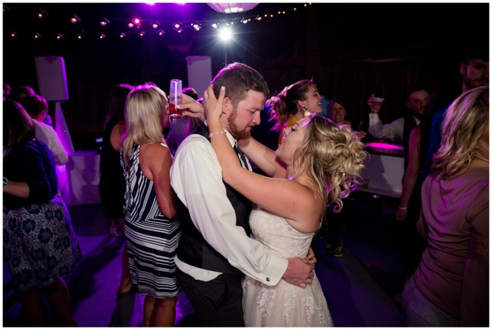 Hannah and Brandon dancing the night away.