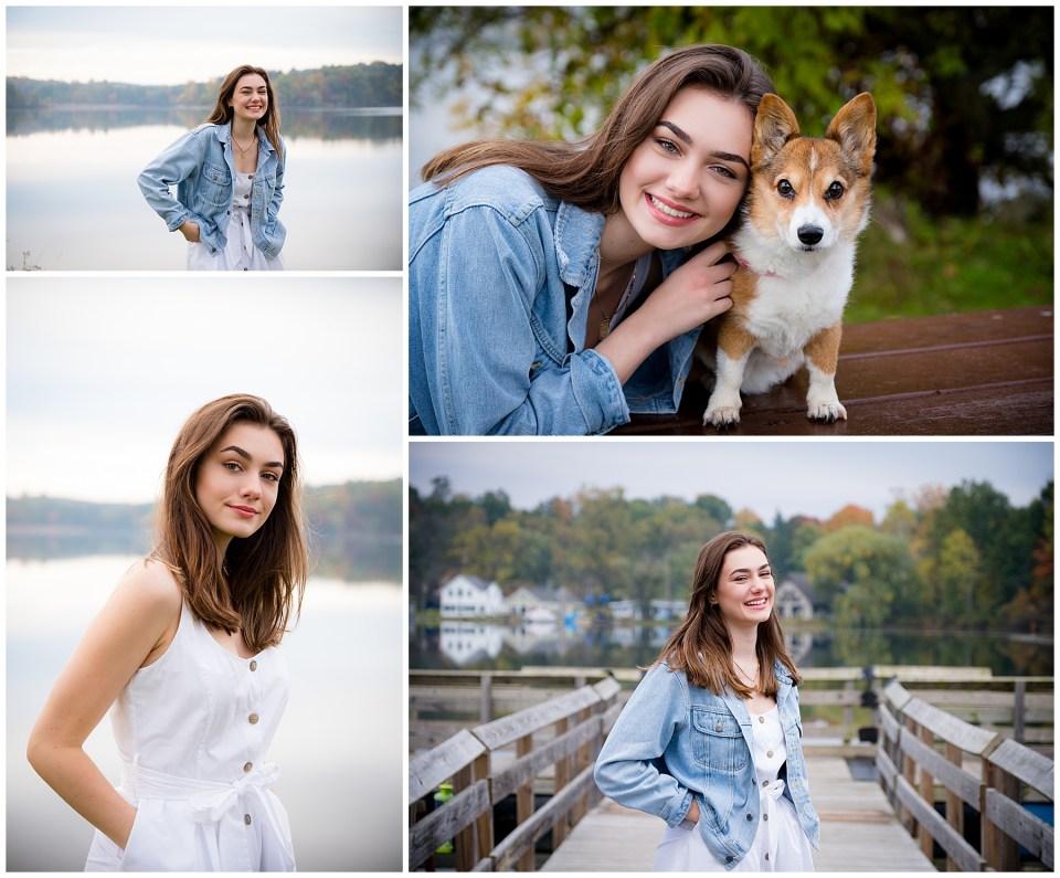 Michigan High School Senior Photos at Silver Lake