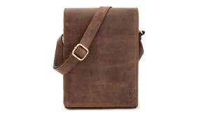 Leabags Buffalo Leather Messenger Bag