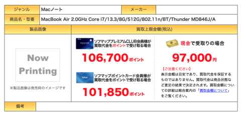MacBook Air リセール