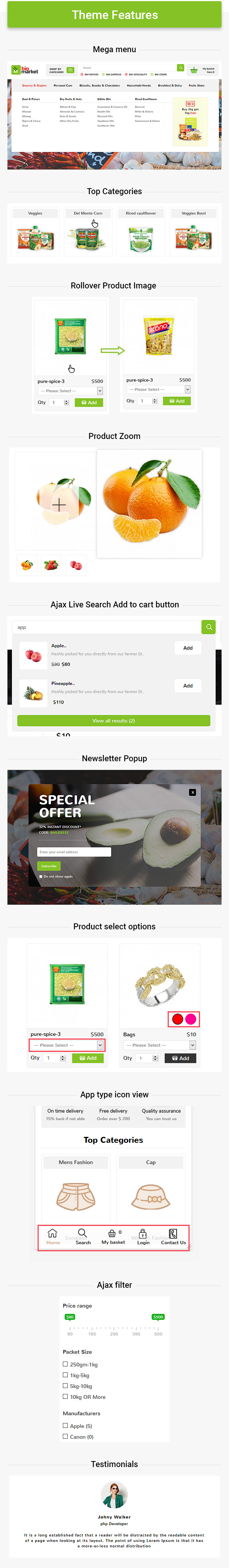 Bigmarket - Multipurpose Responsive  Fashion And Grocery Opencart 3.X Theme - 2