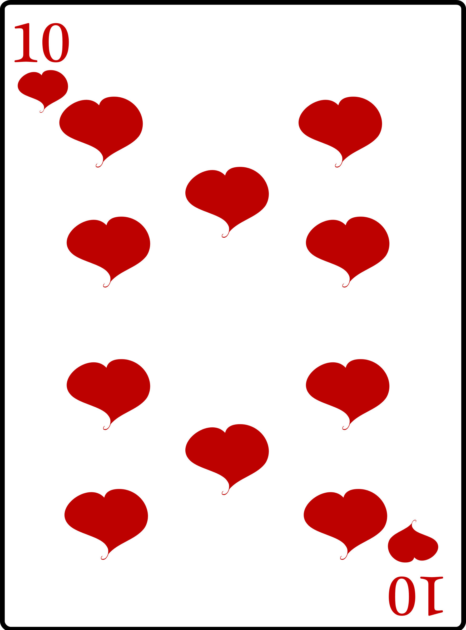 Clipart 10 Of Hearts