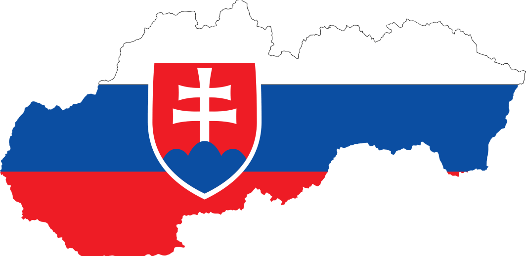 Bandiera slovacca su mappa - 10 curiosità su Bratislava e sulla Slovacchia