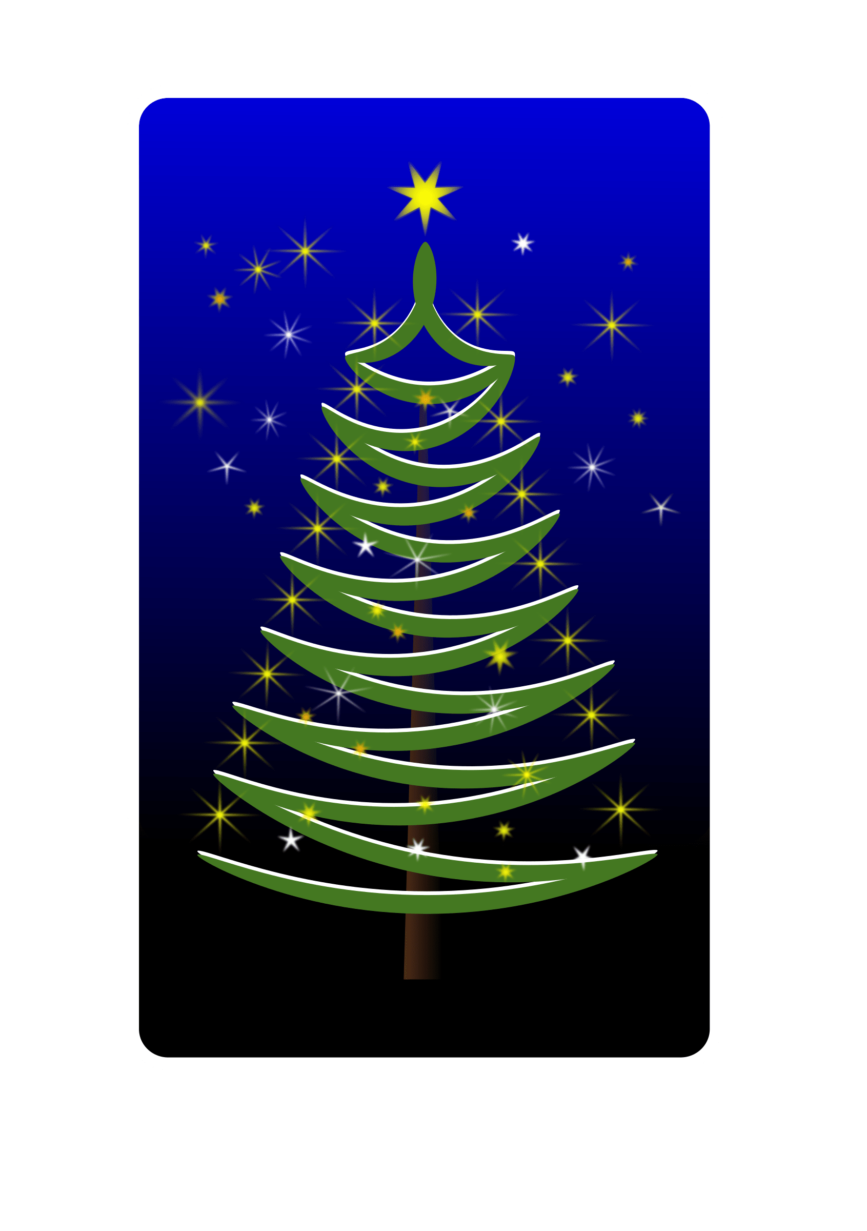 Clipart Stylized Christmas Tree