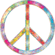 Prismatic Decorative Ornamental Peace Sign by GDJ