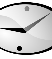 clock by shokunin - simple cartoon clock with ten past nine on the clock