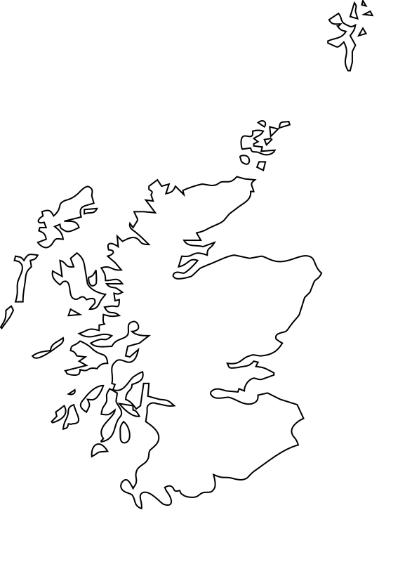 Map Scotland Macbeth