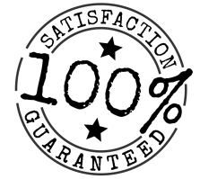 "100 percent Satisfaction Guaranteed Brand by Kliponius.</p><br /><br /><p>A version with the text left editable is also available, but requires you have the free font ""Special Elite"" installed on your system to look like it does here."