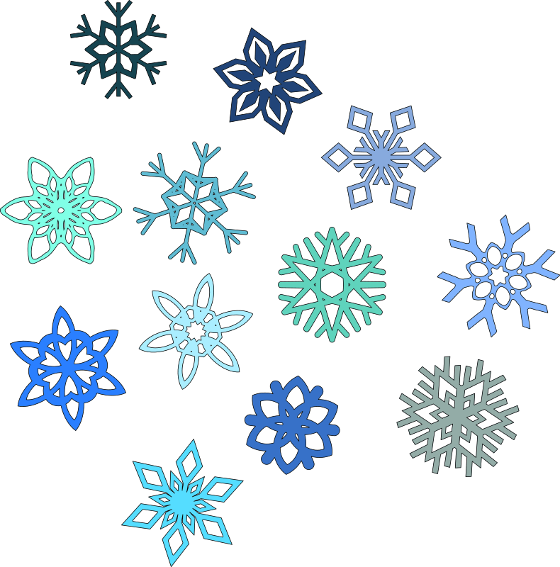 Snowflakes Falling Clipart