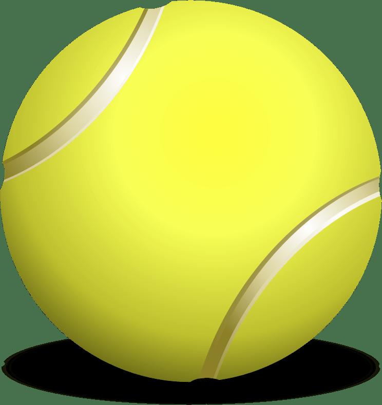 Clipart - tennis ball, teniso kamuoliukas (744 x 789 Pixel)