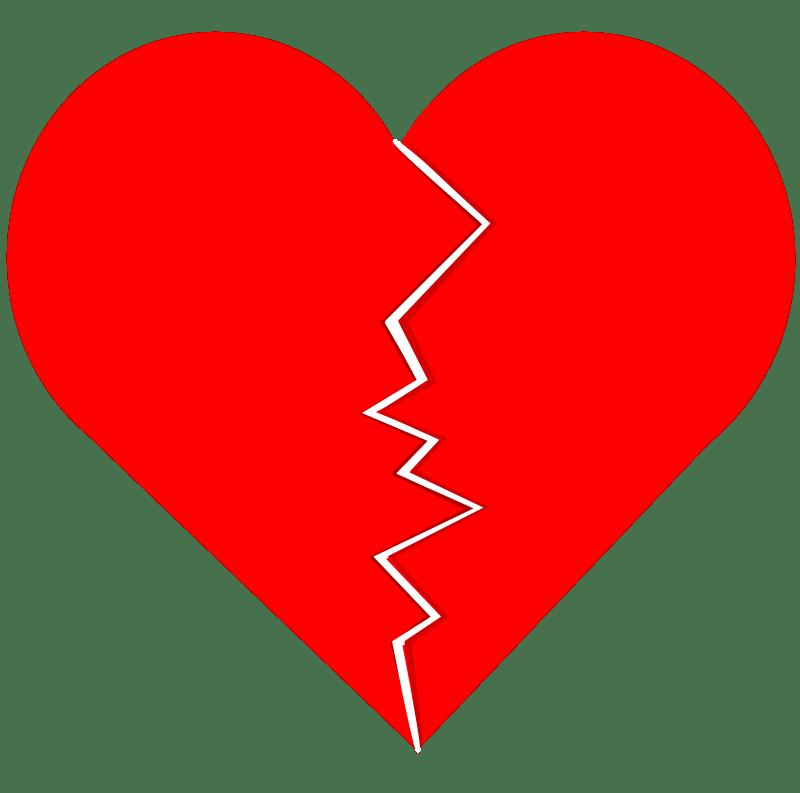 Broken Heart Silhouette