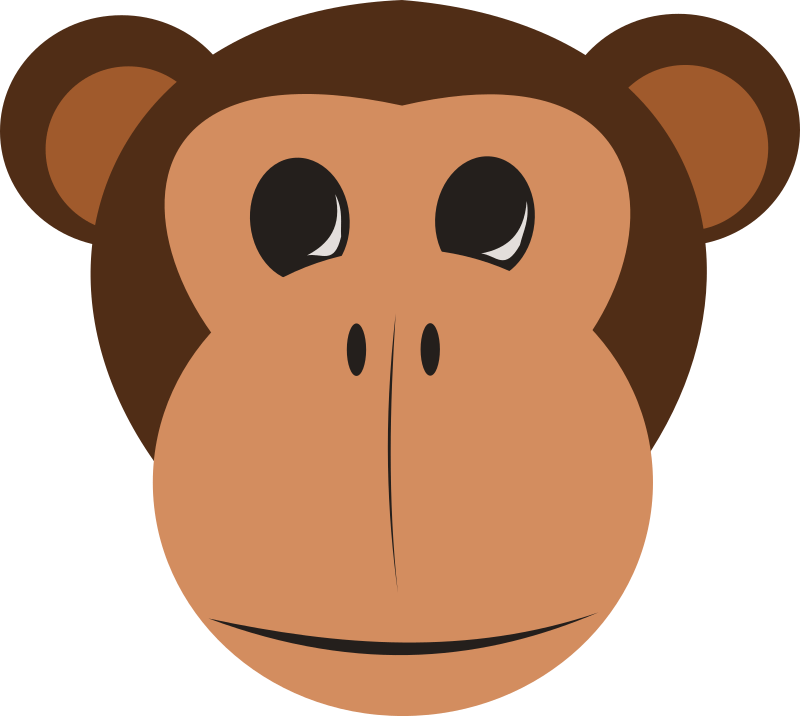 photo regarding Monkey Mask Printable called Monkey Experience Mask Template. 1000 pics regarding flavor of the