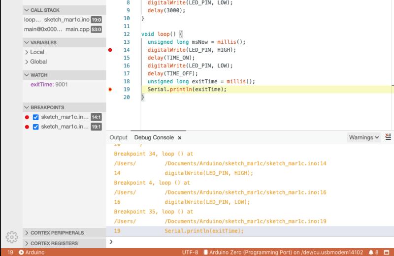 Arduino IDE debug