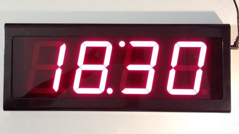 Indoor digital wall LED clock
