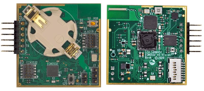 Eta Compute's ECM3532 AI vision board