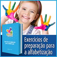 Exercícios de preparação para a alfabetização