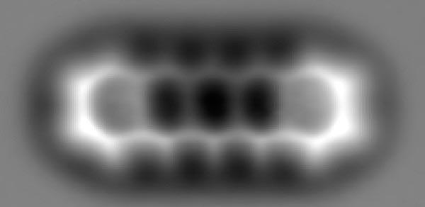 a pentacene molecule, consisting of five benzene rings