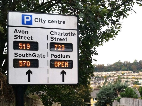 Bath parking sign