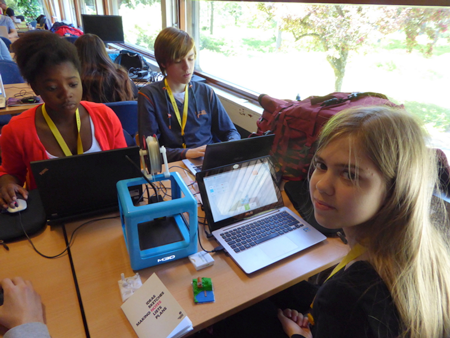 The next generation of Kuipers, creating 3D printed models from their Minecraft worlds.