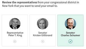 Example of selecting members of congress