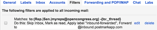 Gmail filters example for forwarding emails with a regexp