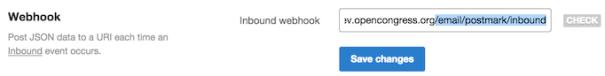Example of postmark inbound webhook url