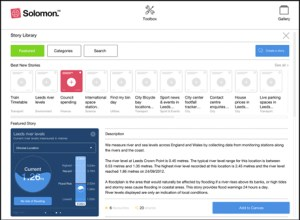 Screenshot of the Solomon storyboard, where users can search for stories to personalise their canvases