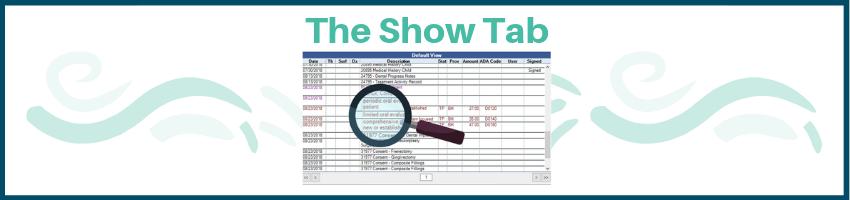 show tab