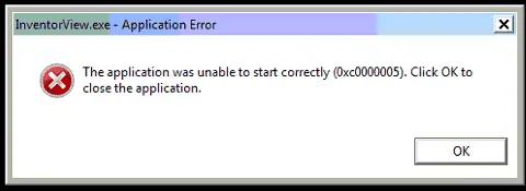 application dll error