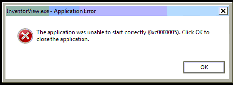 application dll error