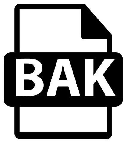 open bak file