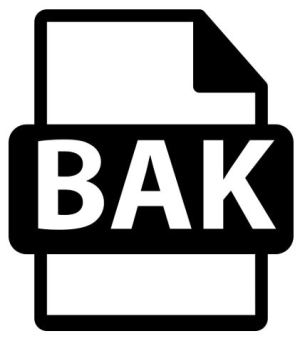 how to open bak file
