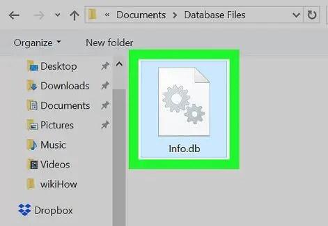 open database file