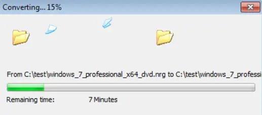 converting nrg file