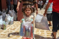 Christian family receives relief packages