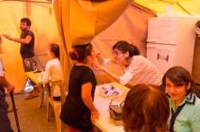Medical tent in Erbil