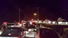 The traffic jam caused by those fleeing from Islamic State in Mosul