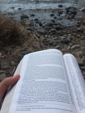 Reading by the Sea of Galilee