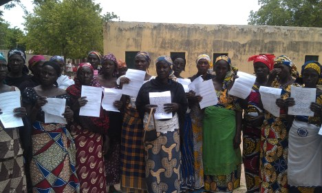 Open Doors supporters wrote letters to the mothers of the missing Chibok girls, kidnapped by Boko Haram.