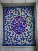 The religious art in mosques is typically comprised of abstract or geometric mosaics.