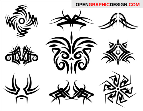 Free Tribal Art Graphics Vector EPS