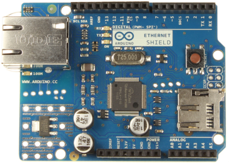 Arduino Ethernet Shield Rev3 WITHOUT PoE Module